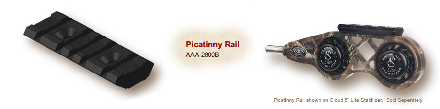 "Axion Picatinny Rail 2.5"" - Fits Cloud"