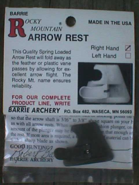 Barrie Rocky Mountain Arrow Rest