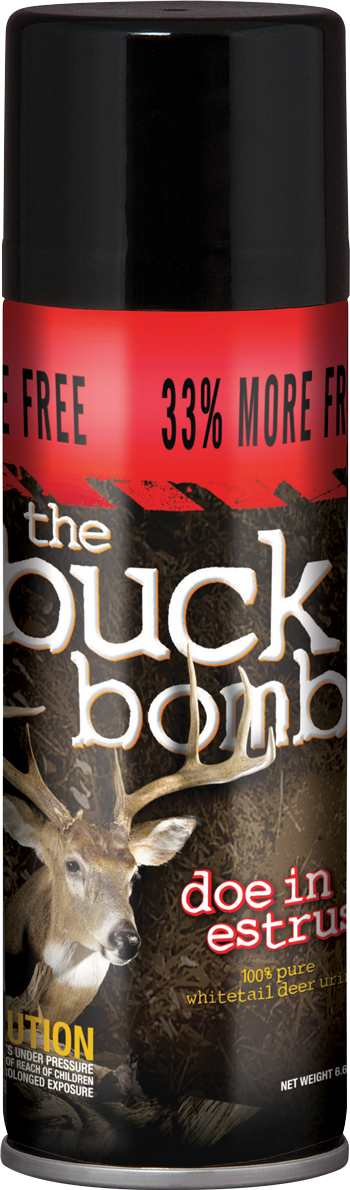 "Buck Bomb ""Doe In Heat"" 33% More"