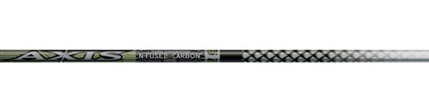 Easton Axis Shafts w/Nocks & Inserts Dz. - Black