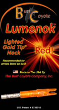 Lumenok Lighted Arrow Nock Ea. - ORANGE