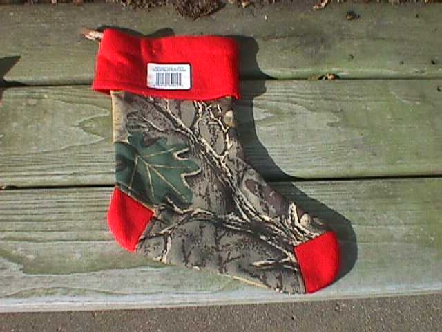 X-Mas Stocking, Advantage Camo w/Red Trim
