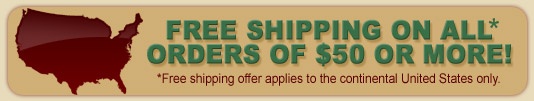FREE Shipping on orders over $50 or more!