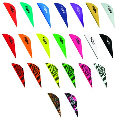"Bohning Blazer 2"" Tiger Striped Vanes 100pk."