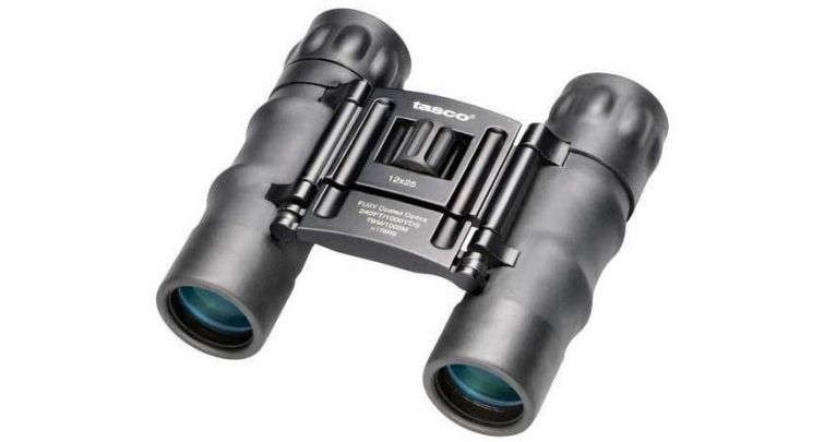 Tasco Essential compact 12x25mm Binoculars - Black