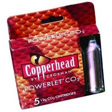 Crosman Copperhead CO2 Powerlets 5pk. 12 gram