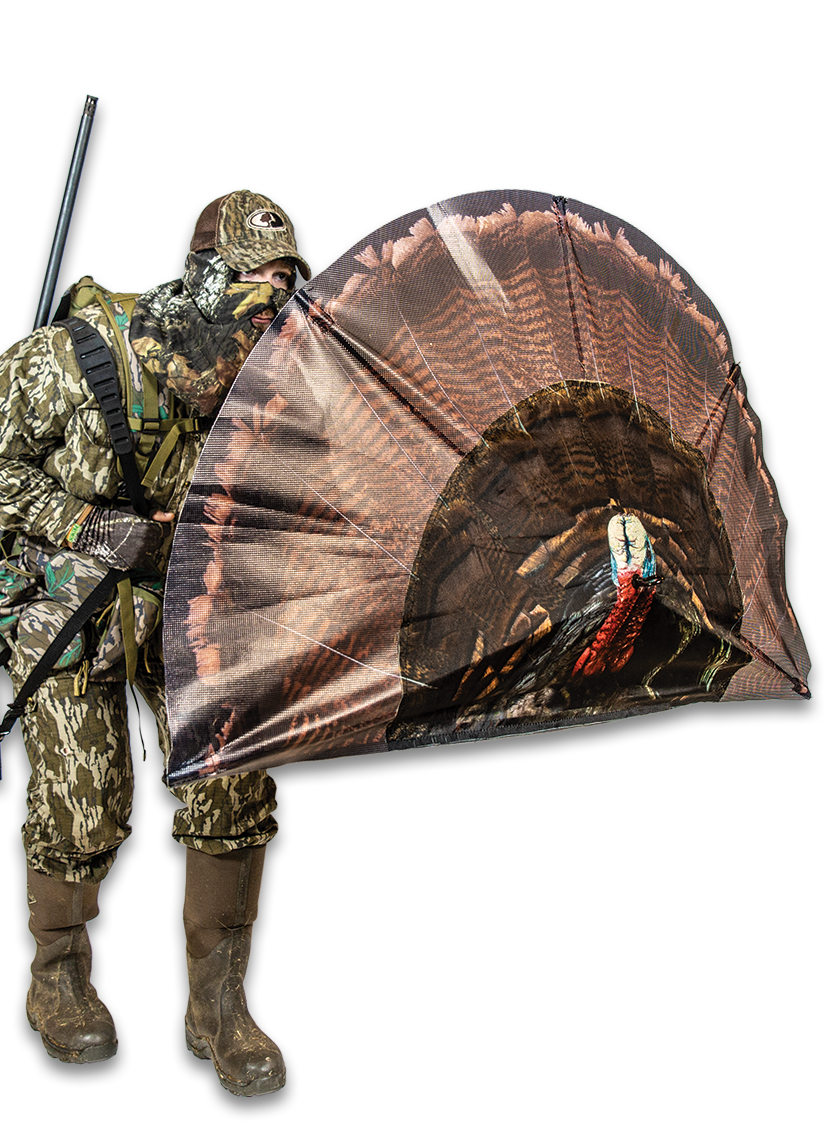 Double Bull Turkey Decoy Surroundview Blind