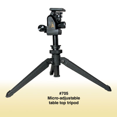 Alpen Micro-Adjust Table Top Tripod