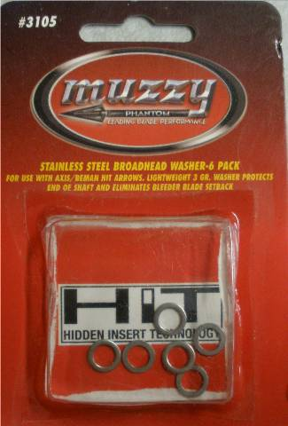 Muzzy Phantom SS Broadhead Washers HIT