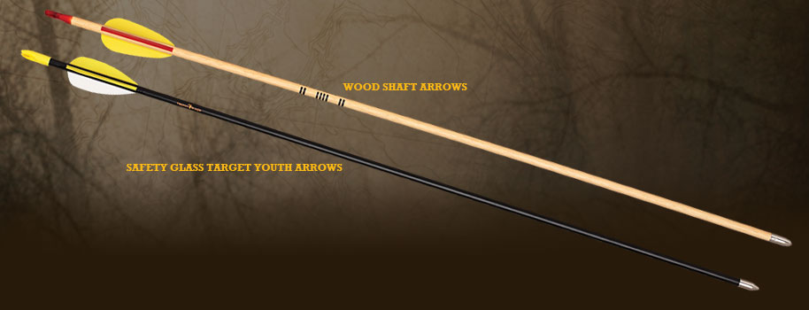 Bear Safety Glass Fletched Arrows w/Points - 72pk