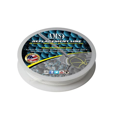 AMS Extra Line 350# 35yds. White Braided Spectra
