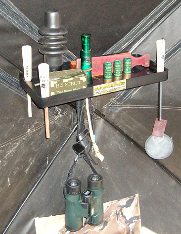 Galena Hub Blind Utility Shelf - Great Turkey Call Holder etc
