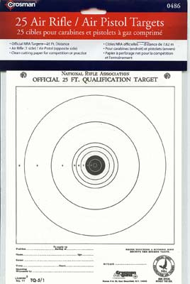 Crosman NRA Official Paper Targets 25pk.