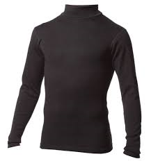 Minus 33 Midweight Mock Long Sleeve Shirt - Black