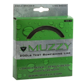 Muzzy Fish Line - Lime 200# 100 Feet