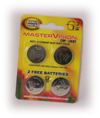 Master Vision CR2032 Batteries 4pk.